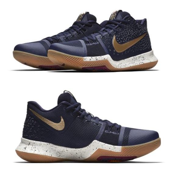 938473342a46 NIKE Kyrie 3 EP sz 10 Basketball shoes blue gold. M 5ae73cfb5512fd30f25c0f2f